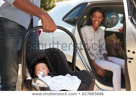 Matka samochodu niemowlę Zdjęcia stock © d13