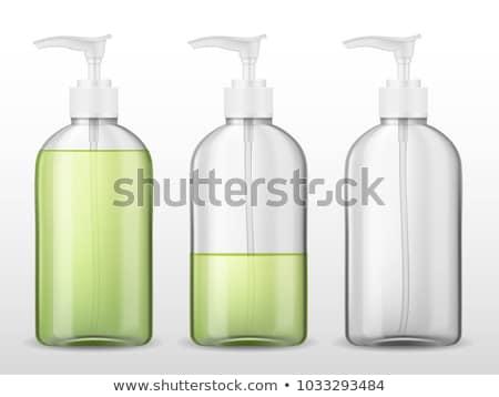 Líquido jabón botella floral blanco Foto stock © saharosa