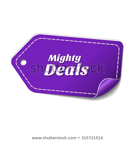 Mighty Deals Violet Vector Icon Design Stock photo © rizwanali3d