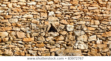 masonry stone wall triangle windows Formentera Stock photo © lunamarina