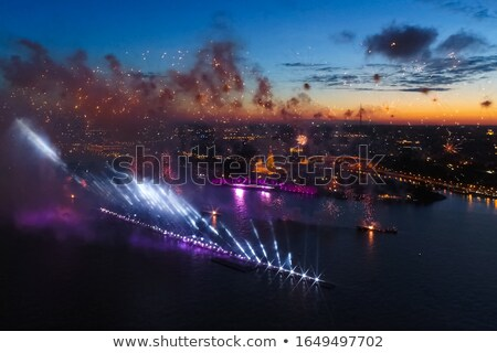 Festive Christmas grandiose firework explode Stock photo © smeagorl