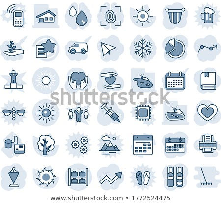 Blue and Grey Tonometer Icon. Stock photo © mcherevan