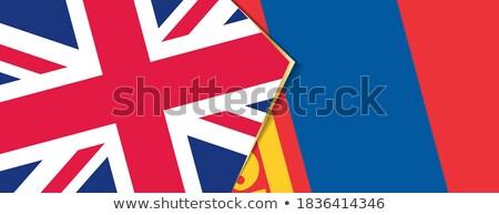 Regno Unito Mongolia bandiere puzzle isolato bianco Foto d'archivio © Istanbul2009