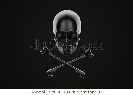 jolly roger skull and crossbones contains clipping path stock photo © kirill_m