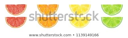 ломтик оранжевый коктейль зеленый стекла синий Сток-фото © jarp17
