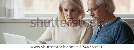 Pár pénzügyi probléma szomorú gazdaságos nő Stock fotó © alphaspirit