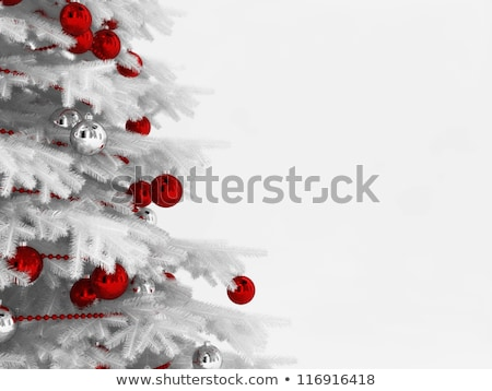 Rood · gouden · christmas · opknoping · grens - stockfoto © rommeo79