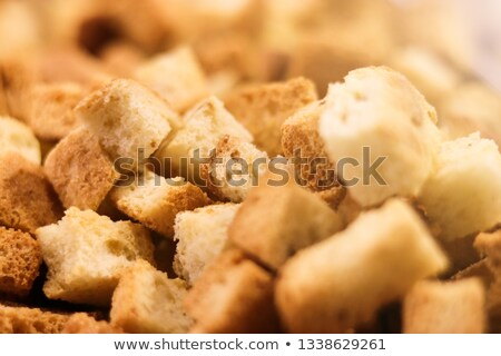 Crispy golden freshly sauteed croutons Stock photo © ozgur