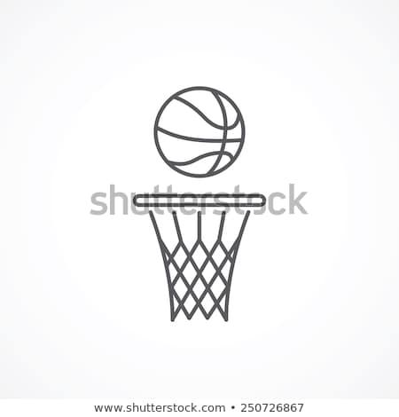 баскетбол · изолированный · белый · фон · оранжевый · Перейти - Сток-фото © rastudio