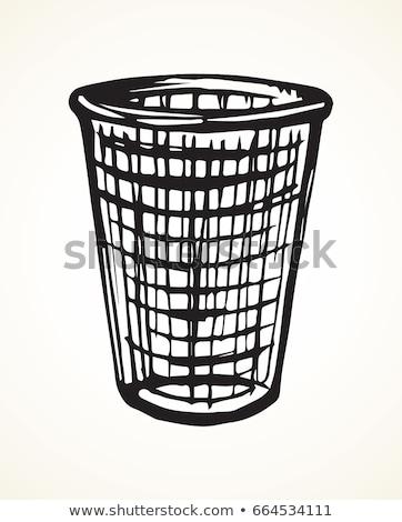 空っぽ 黒 鉄 ゴミ 孤立した ストックフォト © shutswis