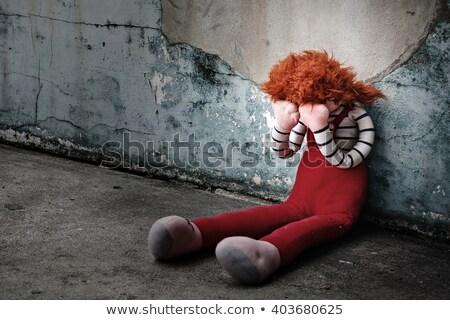 oyuncak · bebekler · tablo · duvar · kırmızı - stok fotoğraf © nailiaschwarz