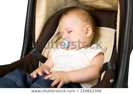 Bebek uyku erkek yüz siyah Stok fotoğraf © AlphaBaby