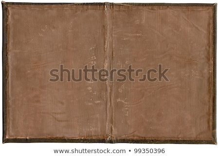 old rough leather book cover old rough leather book cover insid stock photo © 3mc