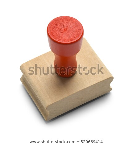 a rubber stamp on a white background   certified stock photo © zerbor