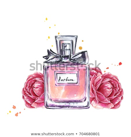 Stock photo: Vintage perfume bottles with flower