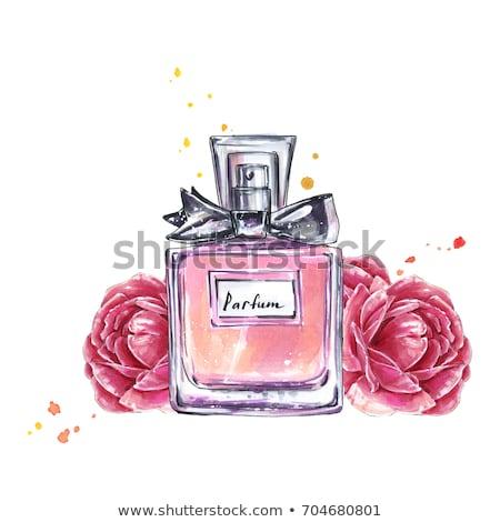 vintage · parfum · flessen · bloem · zeep · zee - stockfoto © Sandralise