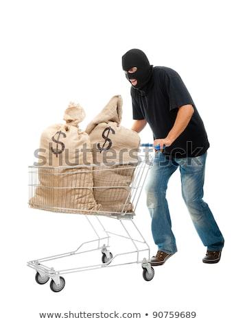 強盗 2 現金 実例 白 男 ストックフォト © bluering