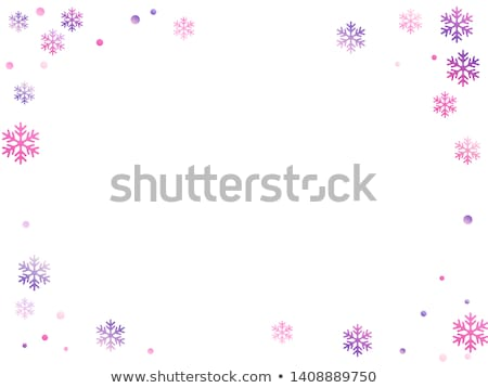 neige · frontière · pourpre · flocons · de · neige · design · fond - photo stock © PokerMan
