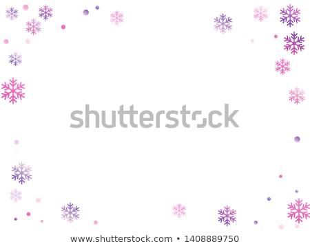 Neige frontière pourpre flocons de neige design fond Photo stock © PokerMan