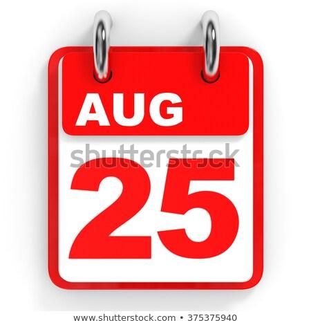 август календаря двадцать 3d иллюстрации Сток-фото © Oakozhan
