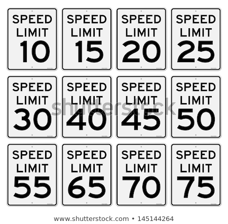 70 kmph or mph driving speed limit sign on highway Stock photo © stevanovicigor