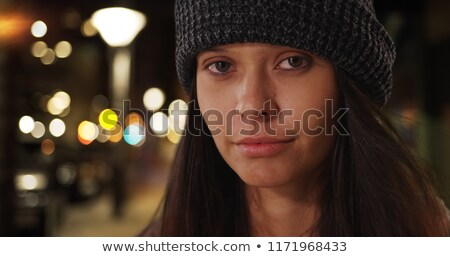 Skater Girl Wearing Beanie Stock photo © keeweeboy