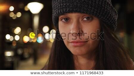 skater girl wearing beanie stock photo © keeweeboy