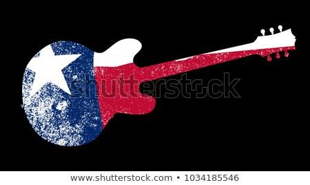 Patriota banderą gitara Texas gitara elektryczna Zdjęcia stock © Bigalbaloo