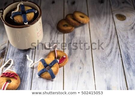 Sütik élet dekoráció egy lebeg csésze Stock fotó © faustalavagna