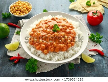 creme · caril · comida · fundo · jantar · refeição - foto stock © m-studio