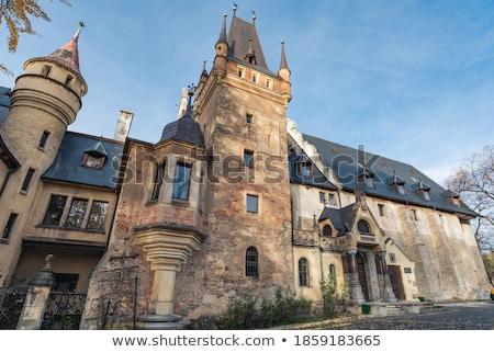старые замок город здании история башни Сток-фото © oxygen64