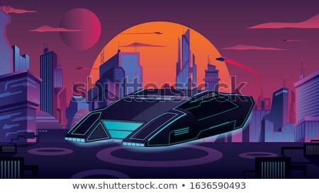 Futurisztikus repülés autó clipart technológia művészet Stock fotó © vectorworks51