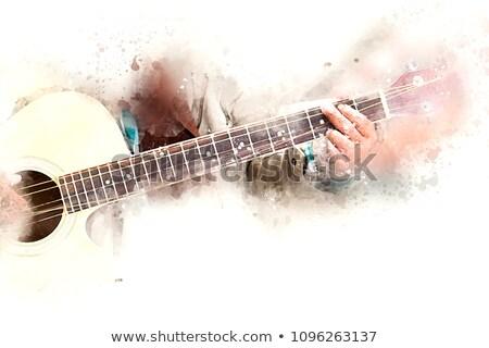 instrumento · musical · masculino · feminino · jogador · bom · símbolo - foto stock © comicvector703
