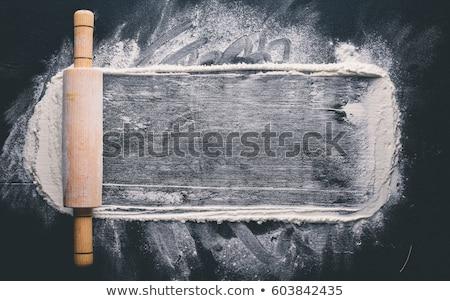 小麦粉 · でんぷん · 木製 · キッチン · スプーン · 紙 - ストックフォト © digifoodstock