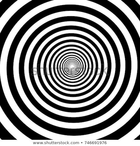 Vektor schwarz weiß Zeilen Spirale Form optische Täuschung Stock foto © CreatorsClub