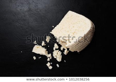 белый сыра разделочная доска дневнике свежие белом фоне Сток-фото © Digifoodstock