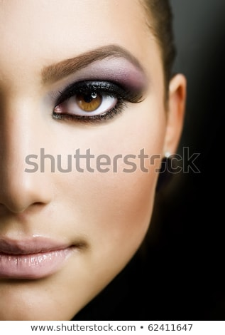 Foto stock: Retrato · beautiful · girl · escuro · compensar · surpreendente · estilo