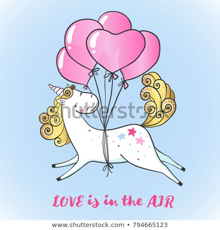 unicorn with heart and love stock photo © ustofre9