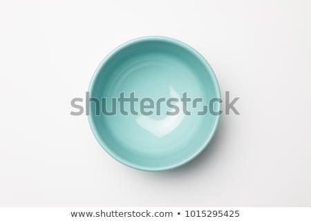 Mély kék tál fehér tárgy edény Stock fotó © Digifoodstock