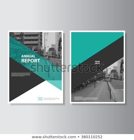 ビジネス レポート カバー テンプレート ストックフォト © SArts