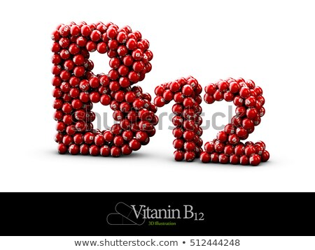 High resolution 3D render of Vitamin B12 stock photo © tussik