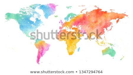 World map in watercolor texture Stock photo © PiXXart