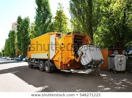 Garbage camion illustrazione icona rimozione business Foto d'archivio © biv