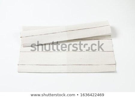 Algodão dobrado tabela limpar pano têxtil Foto stock © Digifoodstock