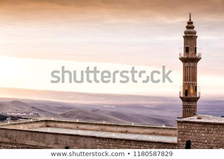 Vieux minaret inconnu auteur ciel art Photo stock © azamshah72