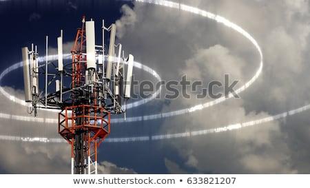 антенна · башни · станция · Blue · Sky · бизнеса - Сток-фото © stevanovicigor