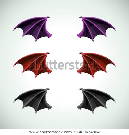 Сток-фото: набор · дракон · Bat · крыльями · Cartoon · стиль