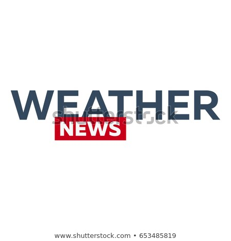 mass media weather news logo for television studio tv show stock photo © leo_edition