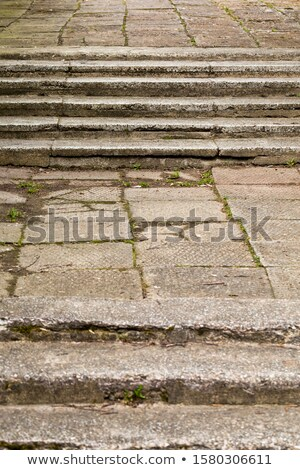 taş · kaldırım · merdiven · eski · yol · sokak - stok fotoğraf © taigi