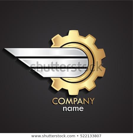 engineering services on golden metallic cog gears 3d illustration stock photo © tashatuvango
